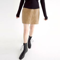 solid leather mini skirts (3colors)