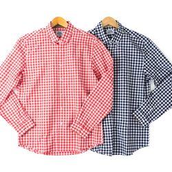 블럭체크 TW레터 긴팔남방 셔츠 2종RFC102056