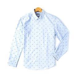 마린앵커 패턴 긴팔남방 셔츠RFC10207