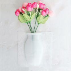 붙이는 실리콘 인테리어 화병 꽃병