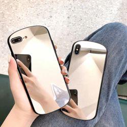 아이폰 심플 라운드 미러 거울 소프트 실리콘 케이스