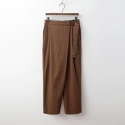 Cotton Wrap Baggy Pants