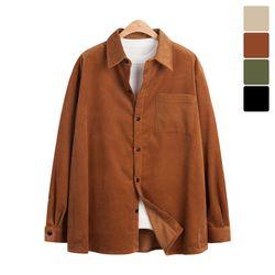 오버핏 골덴 셔츠 자켓 BJP526