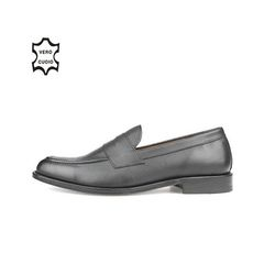 LEATHER SOLE PENNY LOAFERS BLACK