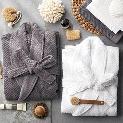 소프트터치 40수 헤링본 목욕가운 샤워가운