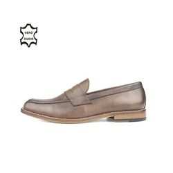 LEATHER SOLE PENNY LOAFERS BROWN