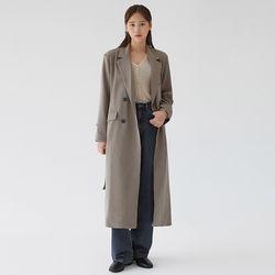 classical button long coat