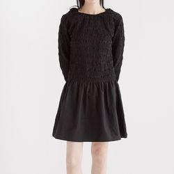 simple shirring mini dress (2colors)