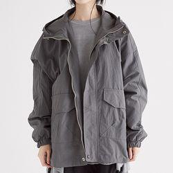 faintly texture hoody jumper (charcoal)