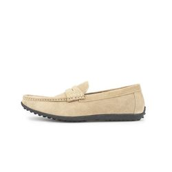 AMERICAN COW SUEDE DRIVING SHOES DARK BEIGE