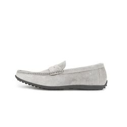 AMERICAN COW SUEDE DRIVING SHOES GRAY