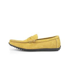 AMERICAN COW SUEDE DRIVING SHOES MUSTARD