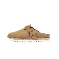 COSY - SUEDE SLIPPER CAMEL