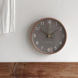 우드 프레임 모던 벽 시계 2type