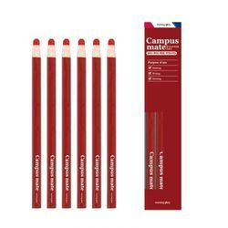 3000 채점용 축지색연필(6개입캠퍼스메이트)