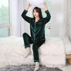러브핑코 벨벳스완 다크그린 잠옷 파자마 홈웨어 세트