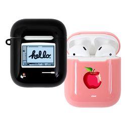 사과가게 글로시 에어팟 하드 케이스(h) (에어팟 1 2 공용)