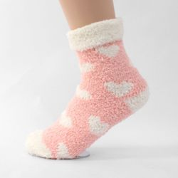 라라 하트 여성 수면양말세트 핑크(5p)