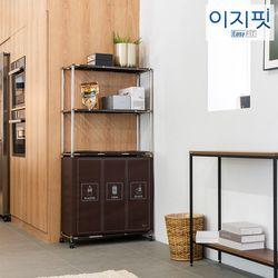 이지핏 리치 가정용 분리수거함 2단 3단 4단 리필봉투 外