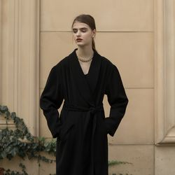 BERLIN ROBE COAT BLACK