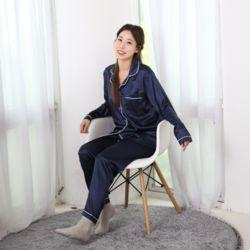 러브핑코 유달링 네이비 긴바지 잠옷 파자마 홈웨어