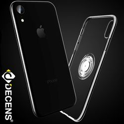 데켄스 M567 아이폰 투명 소프트 메탈 링 휴대폰 케이