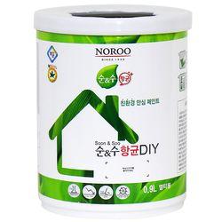 노루페인트 수성페인트 순앤수 항균 DIY 계란광 0.9L