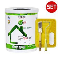 노루 순앤수 항균 DIY 계란광 0.9L + 페인팅 도구세트 4인치