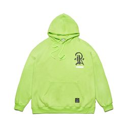 PLUMB OVERSIZED HEAVY SWEAT HOODIE NEON GREEN