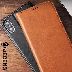데켄스 M554 아이폰 가죽 플립 지갑 휴대폰 케이스