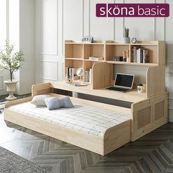 포트리 원목 슬라이딩 책상 침대(매트별도)