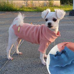 스누드 골지 폴라 티셔츠 적당한 두께감 파스텔 색상 면티