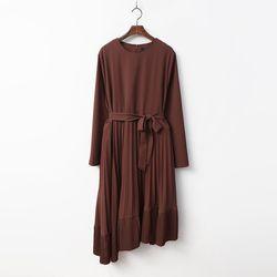 Swan Pleats Long Dress