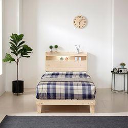 삼나무 LED 침대 프레임 SS