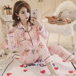 핑크 베어 잠옷세트
