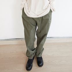 minimal pocket cotton pants (3colors)
