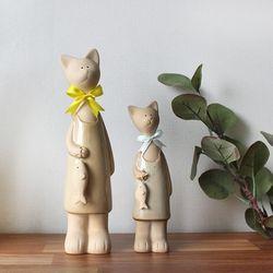 갓샵 리본 고양이 장식 소품 2p