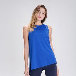 DURAN 스플래쉬 민소매 티셔츠 DFW5022 블루