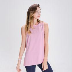 DURAN 스플래쉬 민소매 티셔츠 DFW5022 핑크