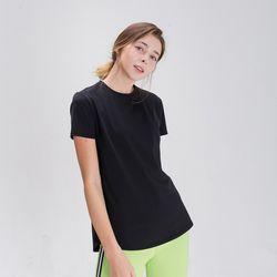 DURAN 스플래쉬 사이드 슬릿 티셔츠 DFW5024 블랙