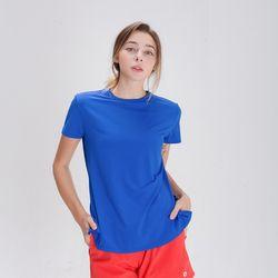 DURAN 스플래쉬 사이드 슬릿 티셔츠 DFW5024 블루