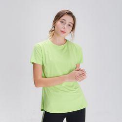 DURAN 스플래쉬 사이드 슬릿 티셔츠 DFW5024 라임