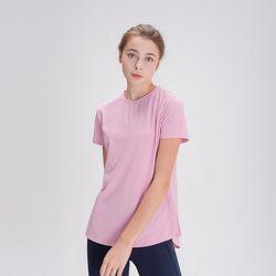 DURAN 스플래쉬 사이드 슬릿 티셔츠 DFW5024 핑크