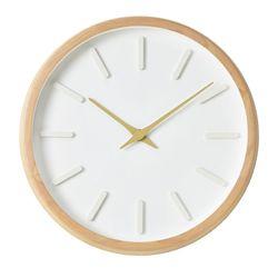 내추럴 라운드인덱스벽시계(베이지)