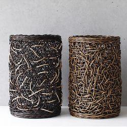 미얀마 라탄 다용도 원통 (소)-2color