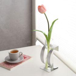 꽃병 철재 유리화병 (대)
