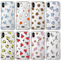 BT21 패턴 클리어 투명케이스 - 아이폰5