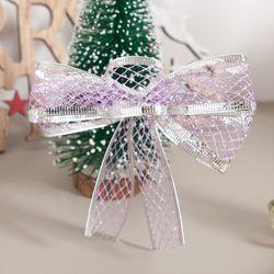 투톤다이아 리본 3cm 2단 (2PCS) 크리스마스 TRMBLS