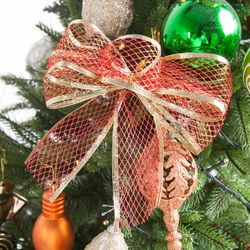 투톤다이아 리본 5cm 2단 (2PCS) 크리스마스 TRMBLS