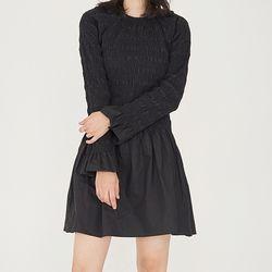 [dress] 터킹 미니 드레스